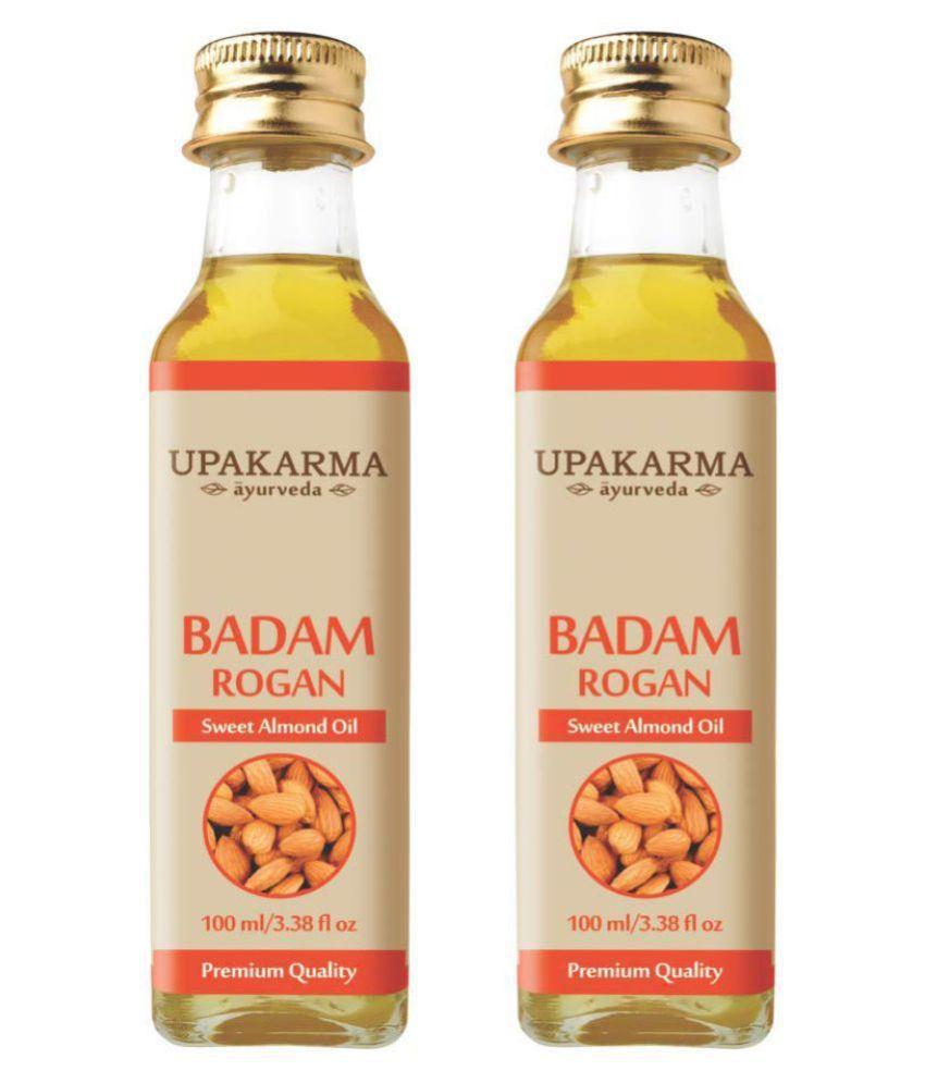 UPAKARMAAYURVEDA Badam rogan oil 200 mL Pack of 2