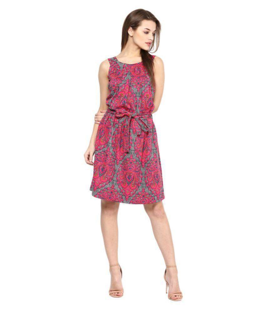 Veronique Cotton Multi Color Regular Dress