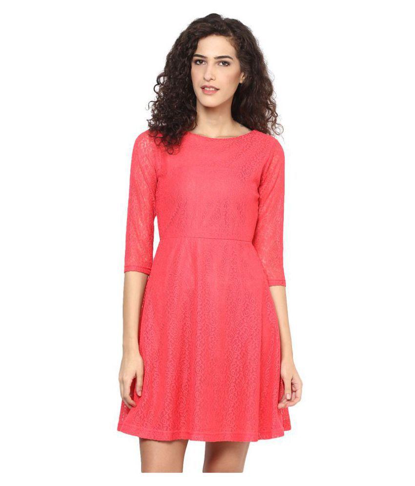 Veronique Linen Red A- line Dress