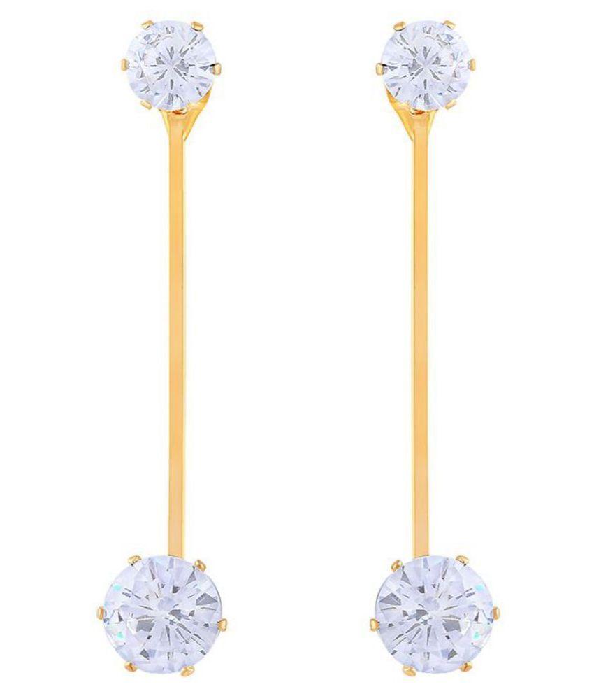 Asmitta Fascinating Dangle Gold Plated Earring For Women