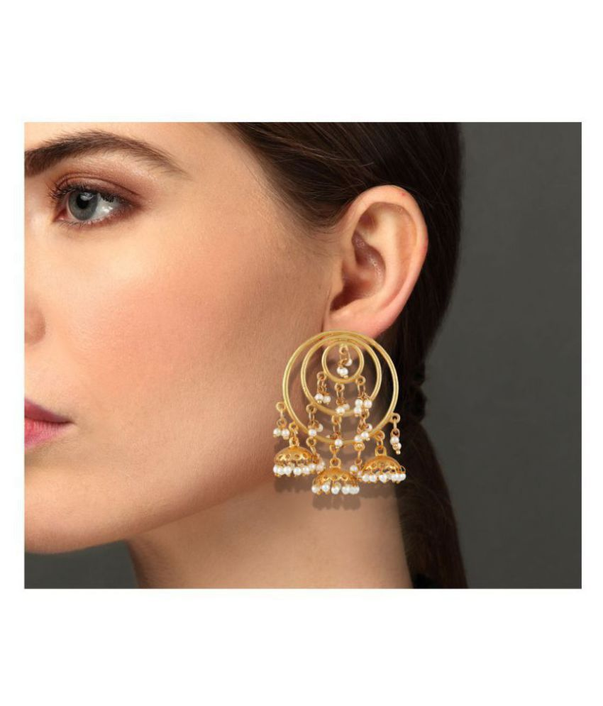 Asmitta Jewellery Modern Gold Plated hanging Earring For Women