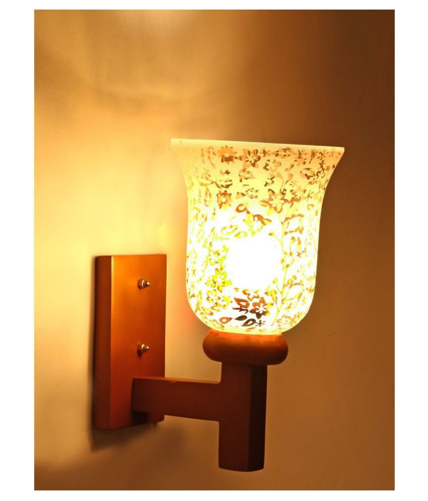 Somil Decorative Wall Lamp Light Glass Wall Light Gold - Pack of 1