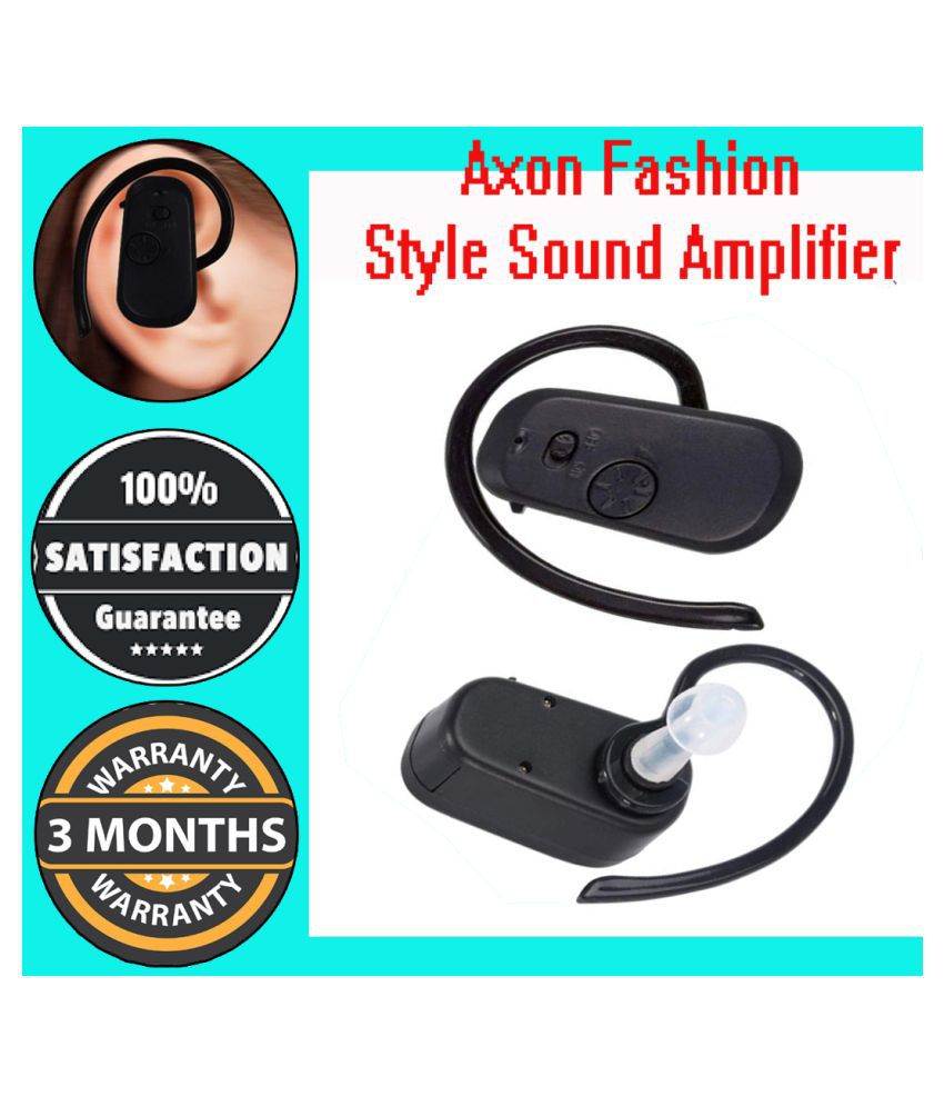 Bluetooth type Hearing aid Aids Volume Adjustable Sound Voice Amplifier device Ear Hearing Aid  (Black)