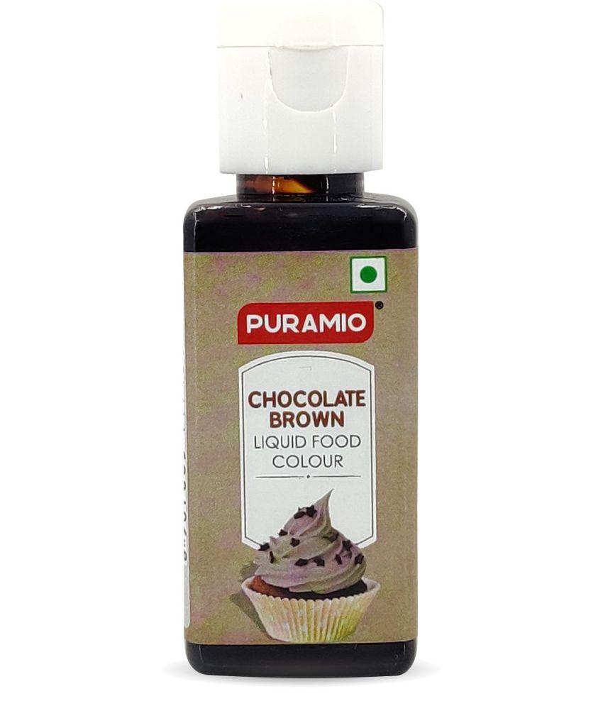 PURAMIO Liquid Food Colour - Chocolate Brown, 50 g