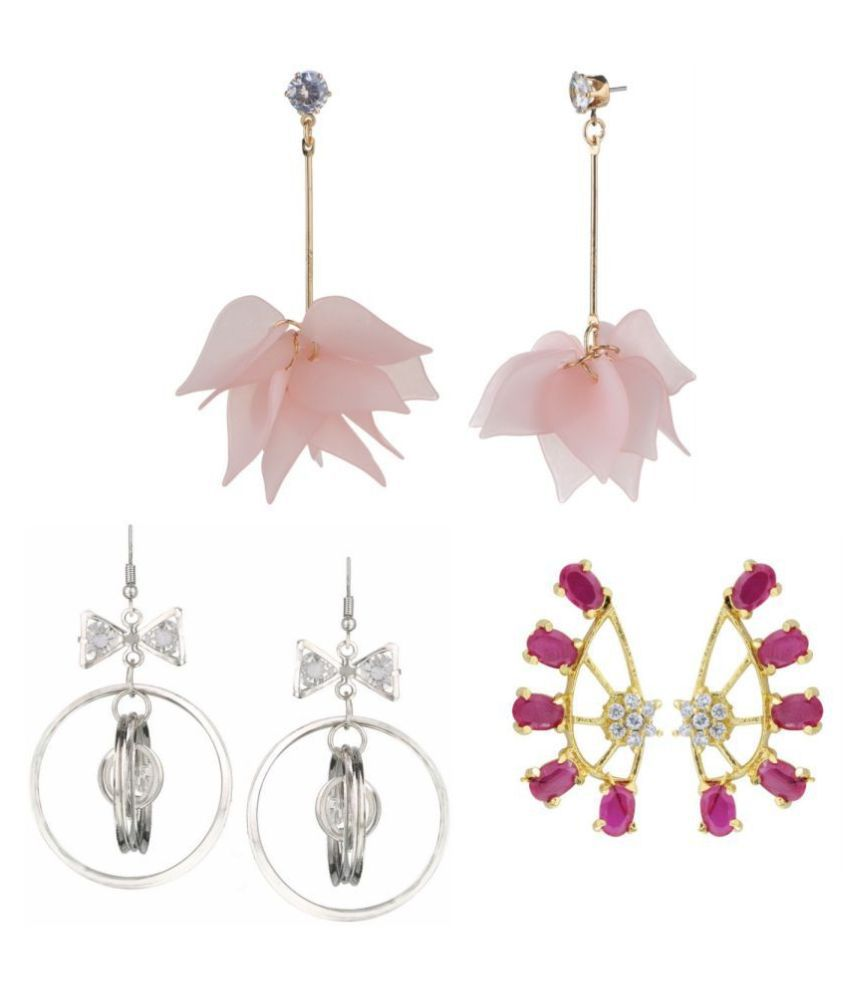 Archi Collection Jewellery Combo Designer Fancy Party Wear Cuff Earrings and Dangler Earrings for Girls and Women