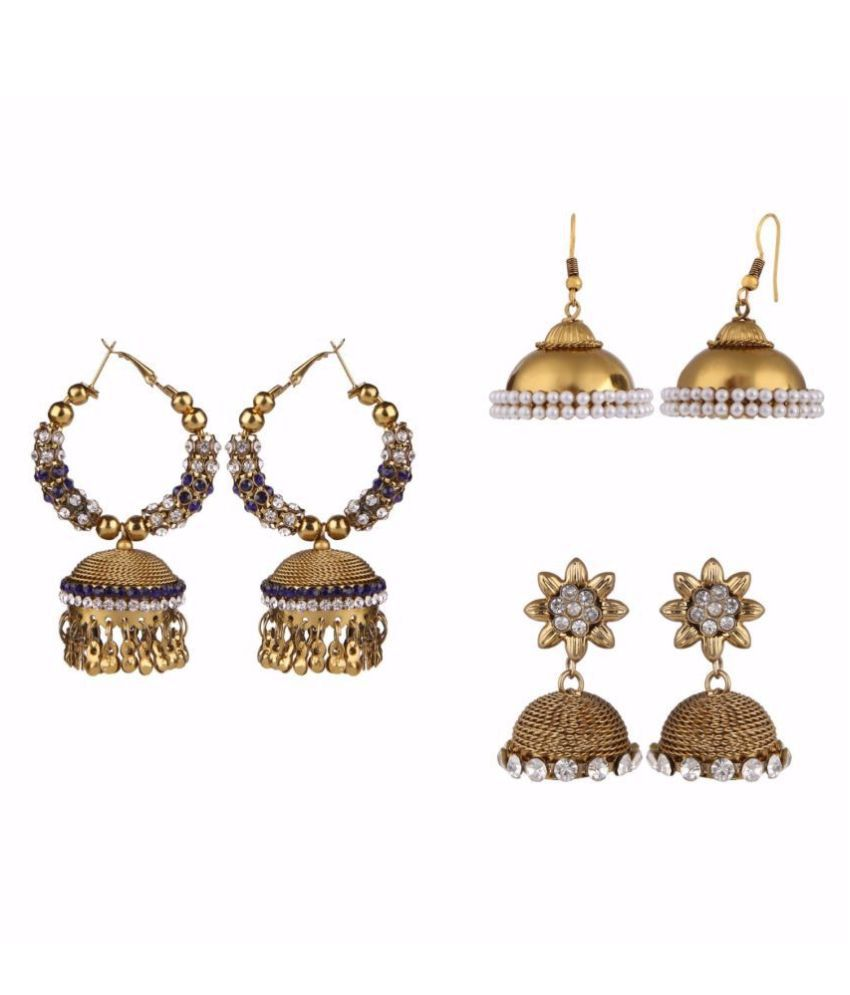 Archi Collection Traditional Designer Fancy Party Wear Earring Combo for Women