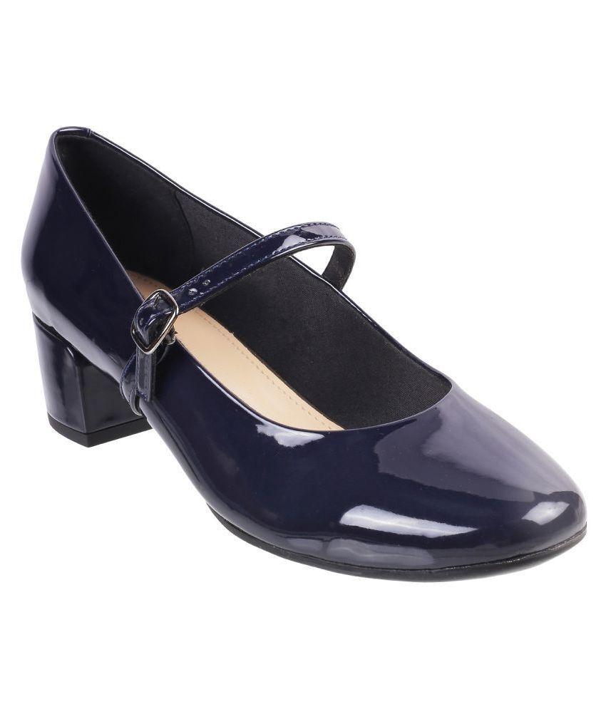 Mochi Blue Block Heels