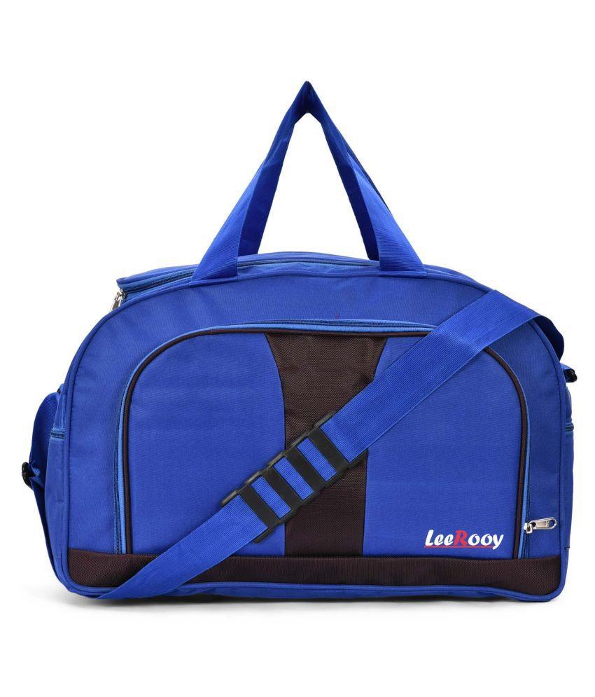 LeeRooy Blue Solid L Duffle Bag