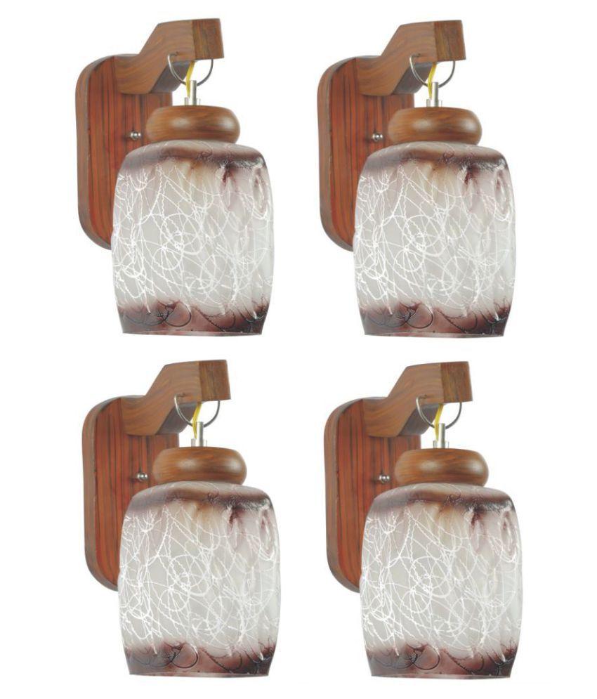AFAST Decorative Wall Lamp Light Wood Wall Light Multi - Pack of 4