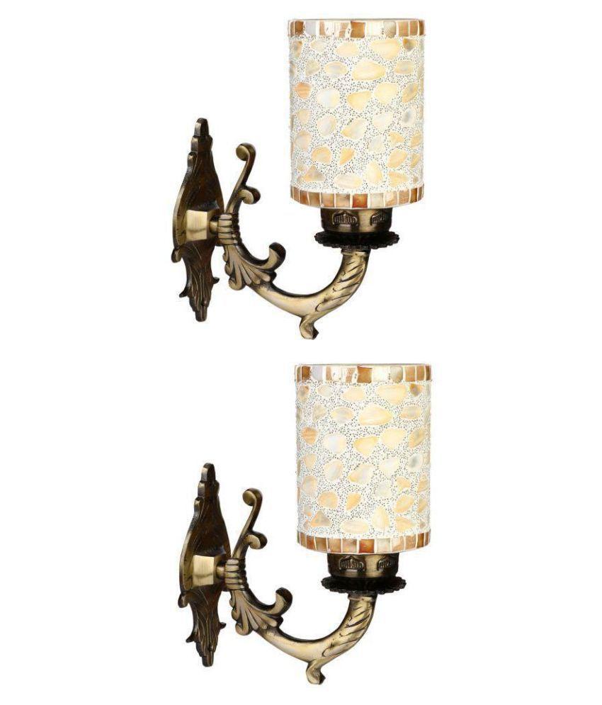 AFAST Decorative Wall Lamp Light Metal Wall Light Beige - Pack of 2