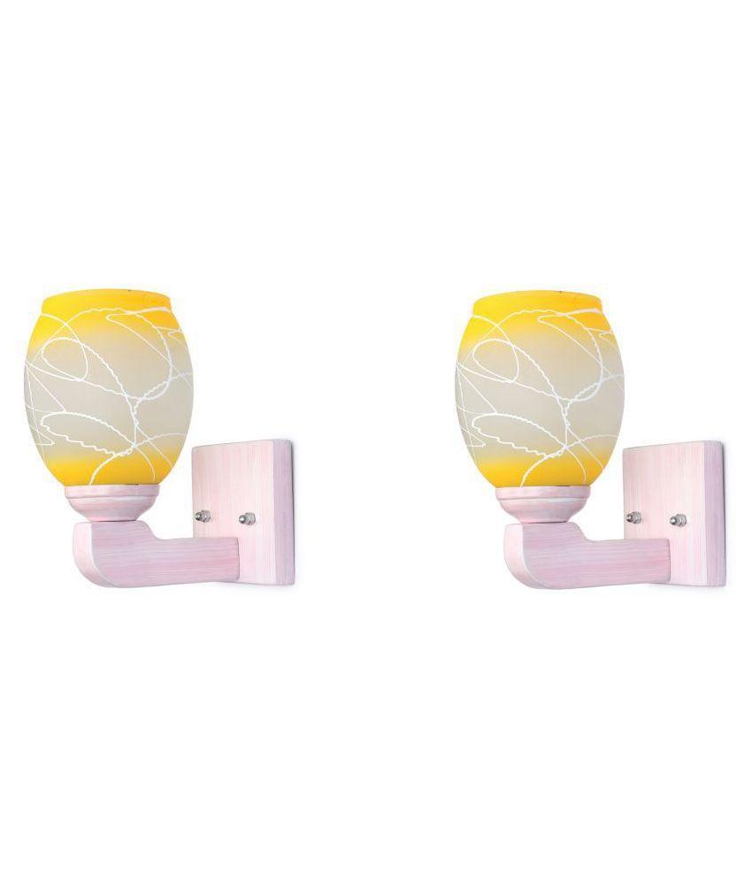 AFAST Decorative Wall Lamp Light Glass Wall Light Multi - Pack of 2