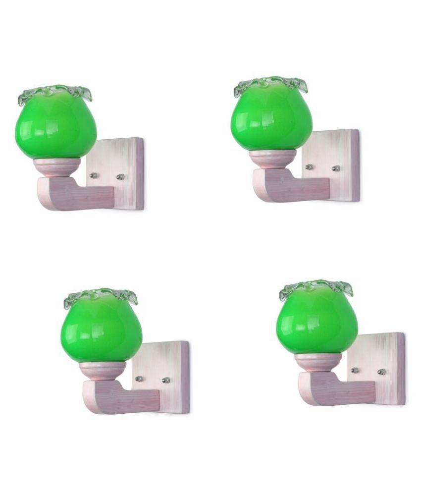 AFAST Decorative Wall Lamp Light Glass Wall Light Green - Pack of 4