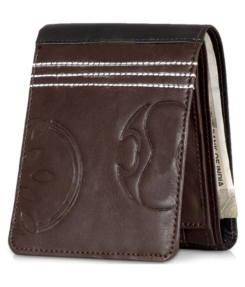 LUXIQE PU Brown Casual Regular Wallet
