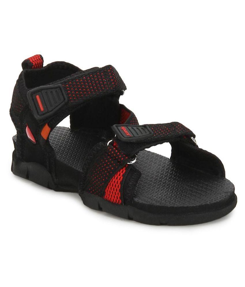 Sparx Black Floater Sandals For Kids