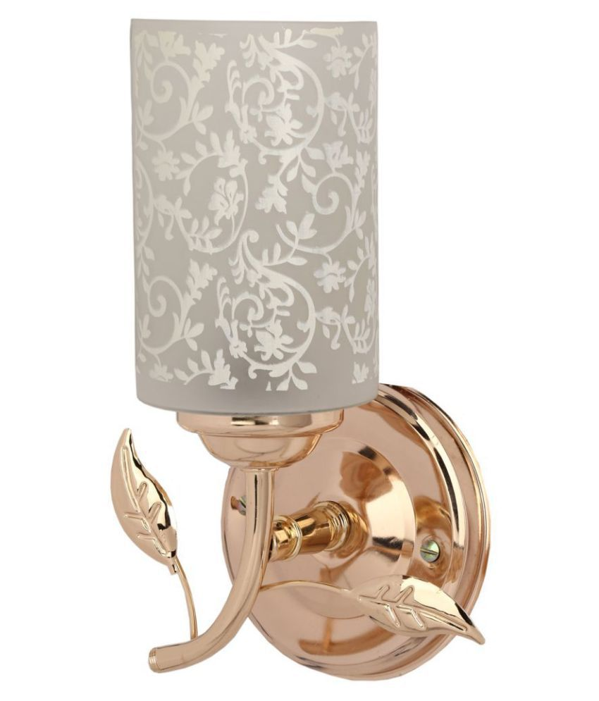 Somil Decorative Lamp Glass Wall Light White - Pack Of 1