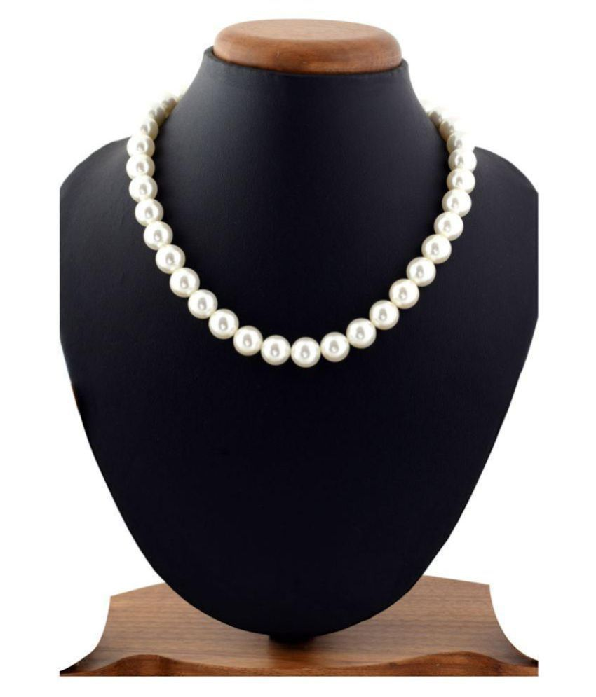 Sakshi Pearls White Contemporary Contemporary/Fashion Gold Plated Necklace