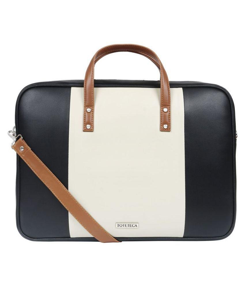 Toteteca Bag Works White P.U. Office Bag