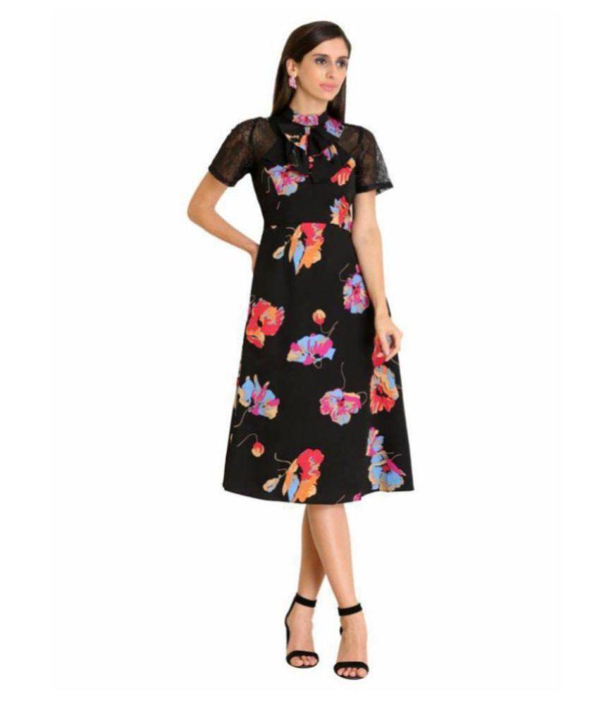 Raas Prêt Crepe Black A- line Dress
