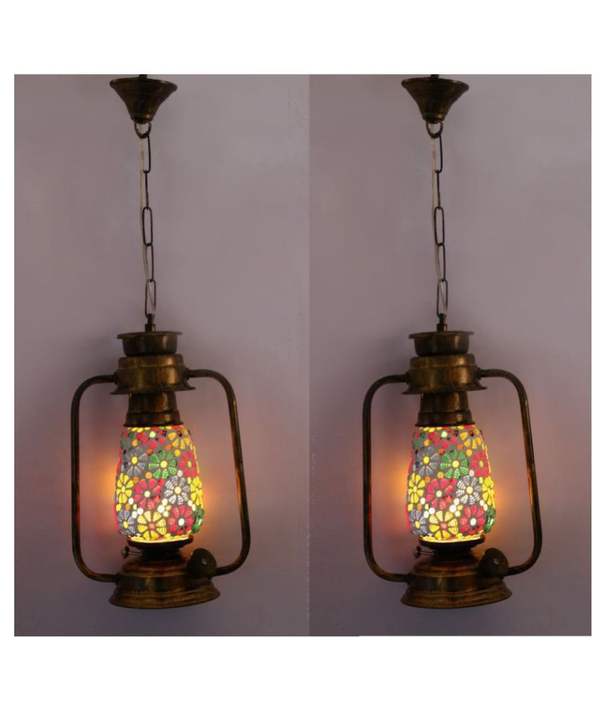 AFAST Antique Colorful Lantern Lamp - A22 Hanging Lanterns 61 - Pack of 2