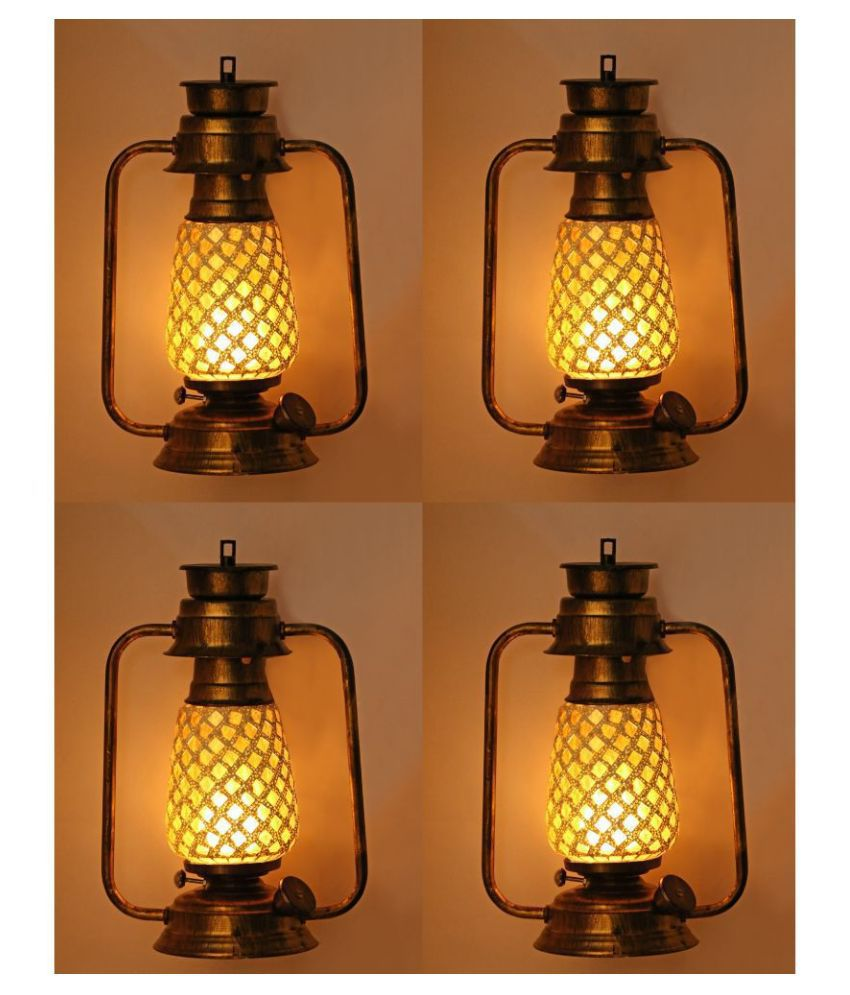 AFAST Antique Colorful Lantern Lamp - A51 Hanging Lanterns 31 - Pack of 4