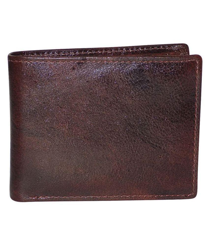 KAN Leather Brown Casual Regular Wallet