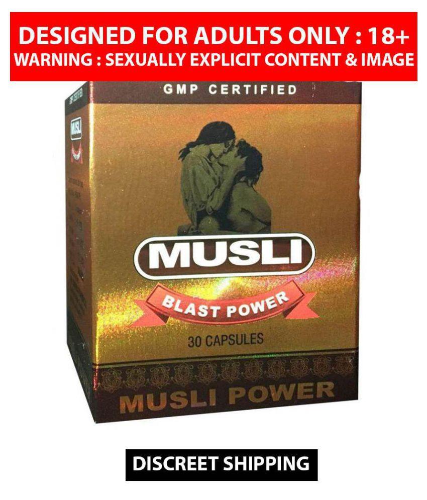 MUSLI BLAST POWER CAPSULES FOR MEN  EXTRA SEX TIME CAPSULES- 1 x 30 cp 30 no.s