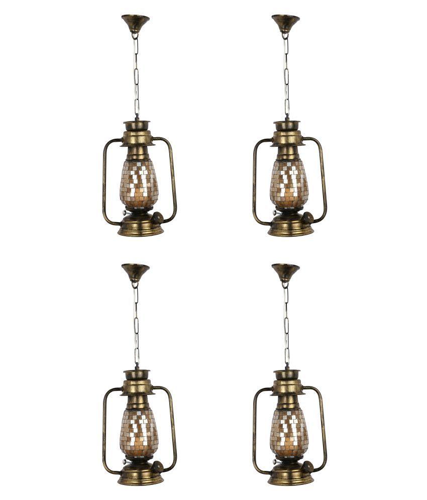 Somil Decorative Lantern  Hanging Lanterns 60 - Pack of 4