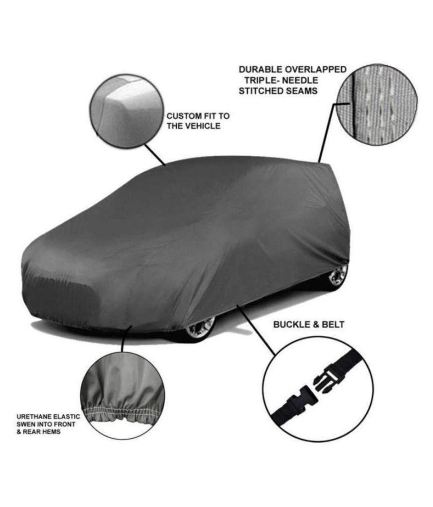 Ek Retail Shop Grey Matty Dust Proof Car Body Cover for Maruti Suzuki Ertiga with Out Mirror Pockets Triple Stitching & Light Weight (Grey Color) Model 2019-20