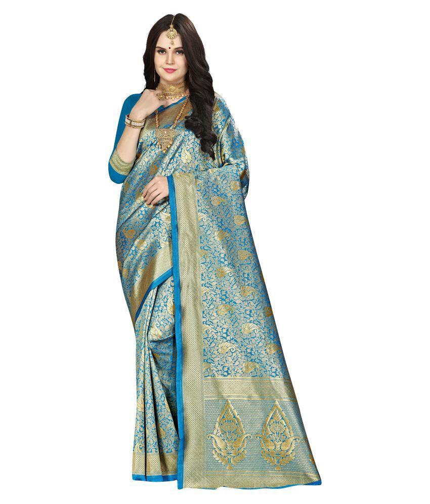 Janki BLUE Silk Blends Saree