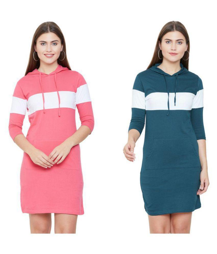 Jhankhi Cotton Multi Color T-shirt Dress