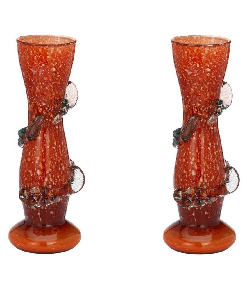 Somil Glass Table Vase 18 cms   Pack of 2