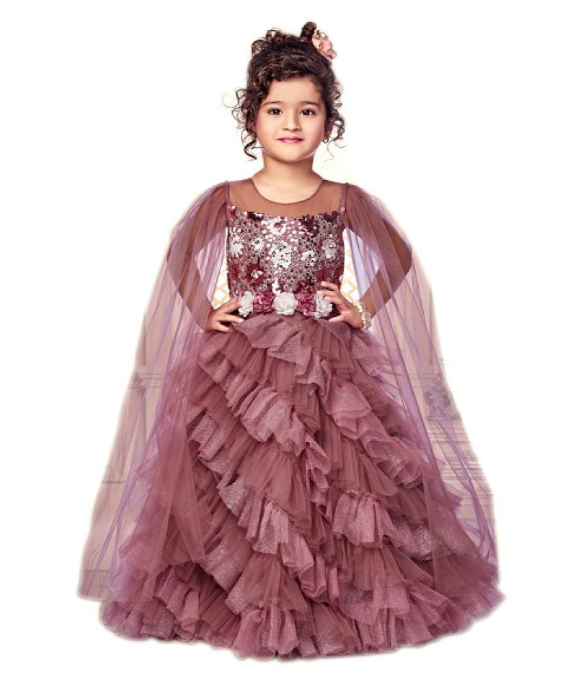 Titrit onion pink girls party gown