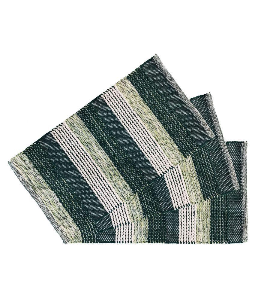 Youlive Green Set of 3 Regular Floor Mat