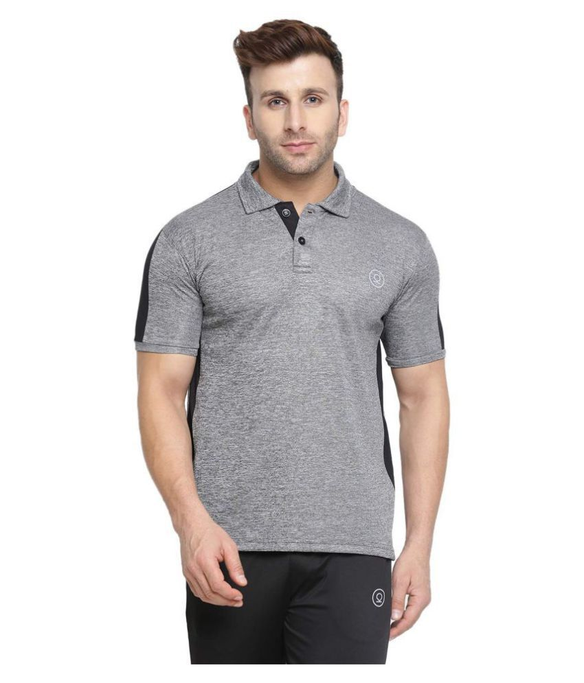 CHKOKKO Dry Fit Sports Golf Polo Polyester Half Sleeves Plain T Shirt for Men