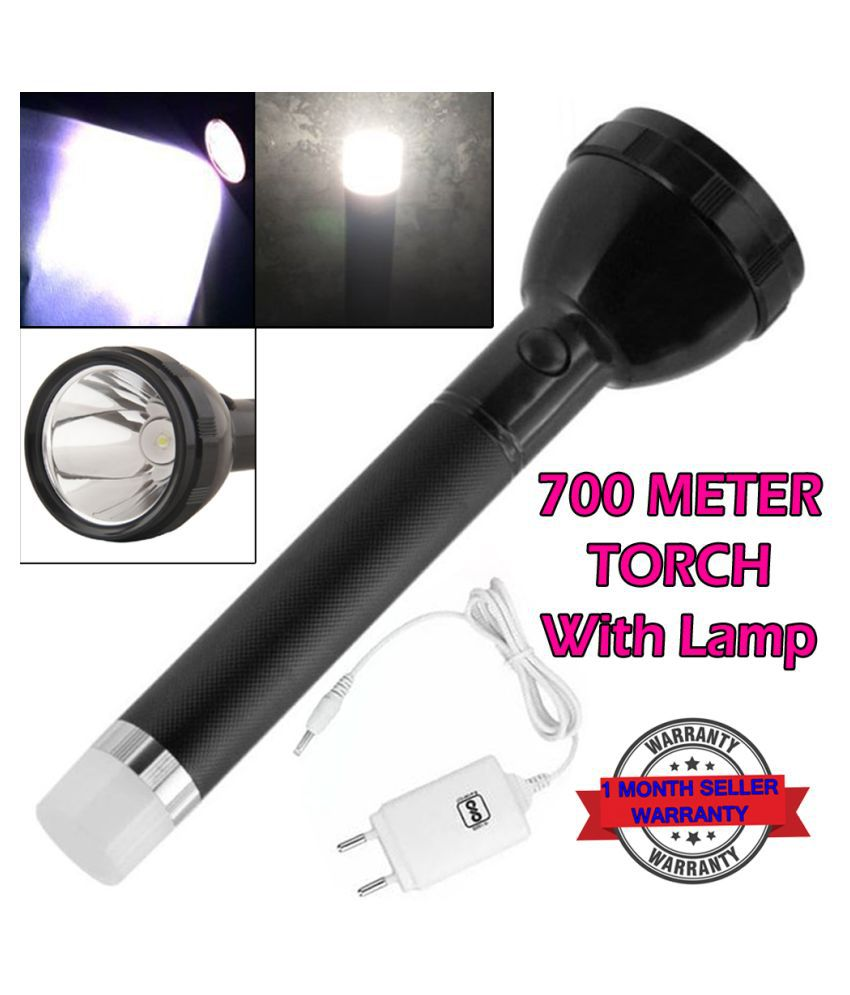 1000 Meter 2Mode Long Beam Chargeable Waterproof LED Table Lamp 50W Flashlight 50W Flashlight Torch 50W LedTorch - Pack of 1