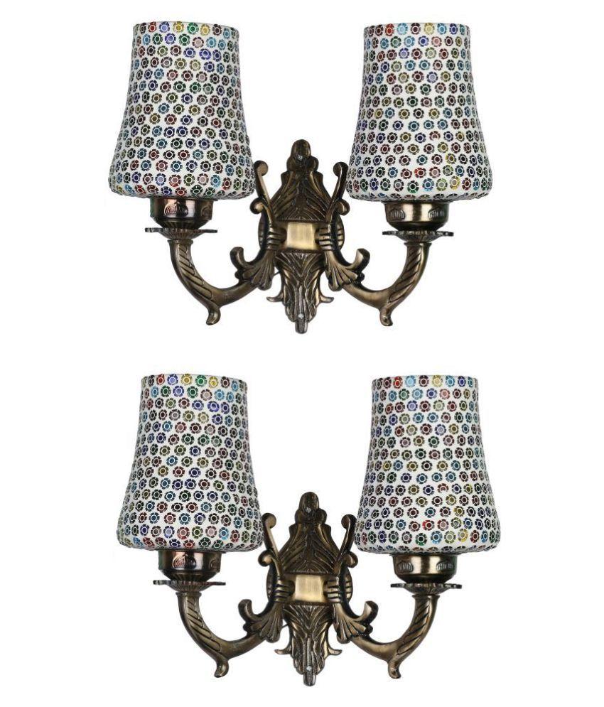AFAST Decorative & Designer Glass Wall Light Multi - Pack of 2