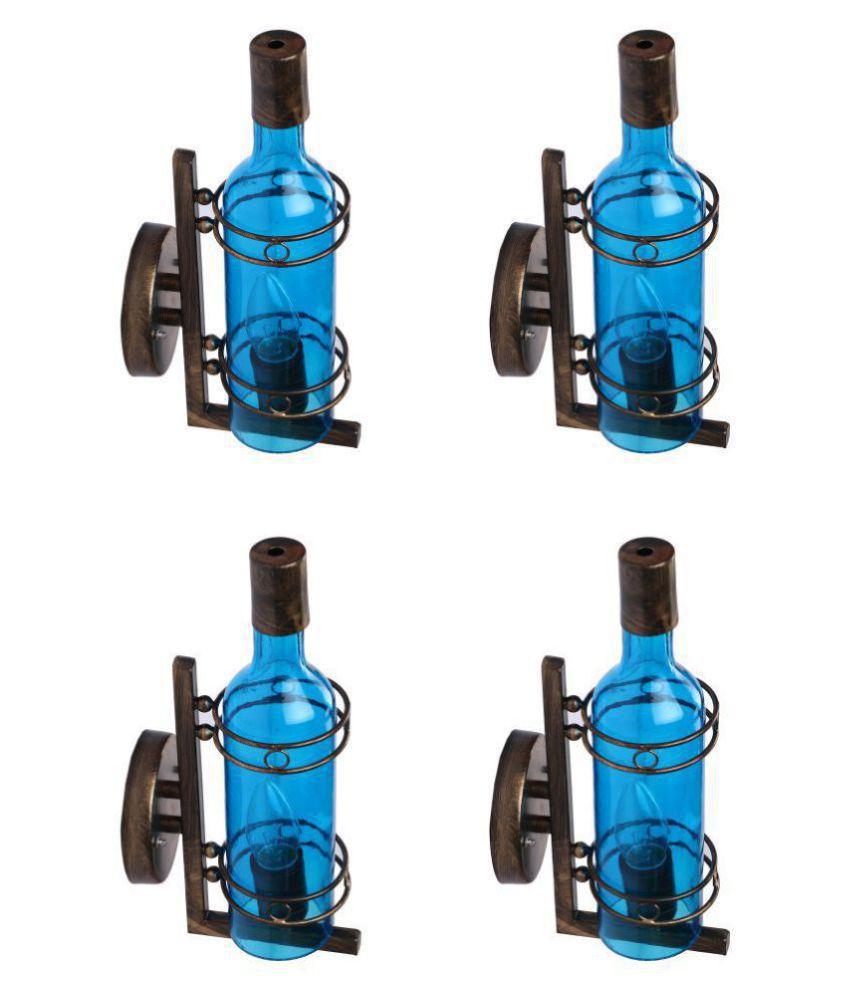 AFAST Decorative & Designer Glass Wall Light Blue - Pack of 4