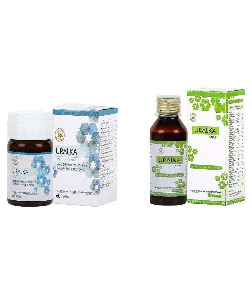HerbRoot Uralka Tablets and Uralka Syrup Tablet 100 ml Pack Of 2