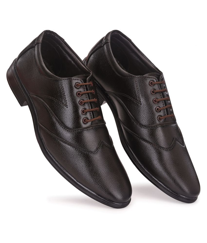 Prolific Non-Leather Brown Formal Shoes