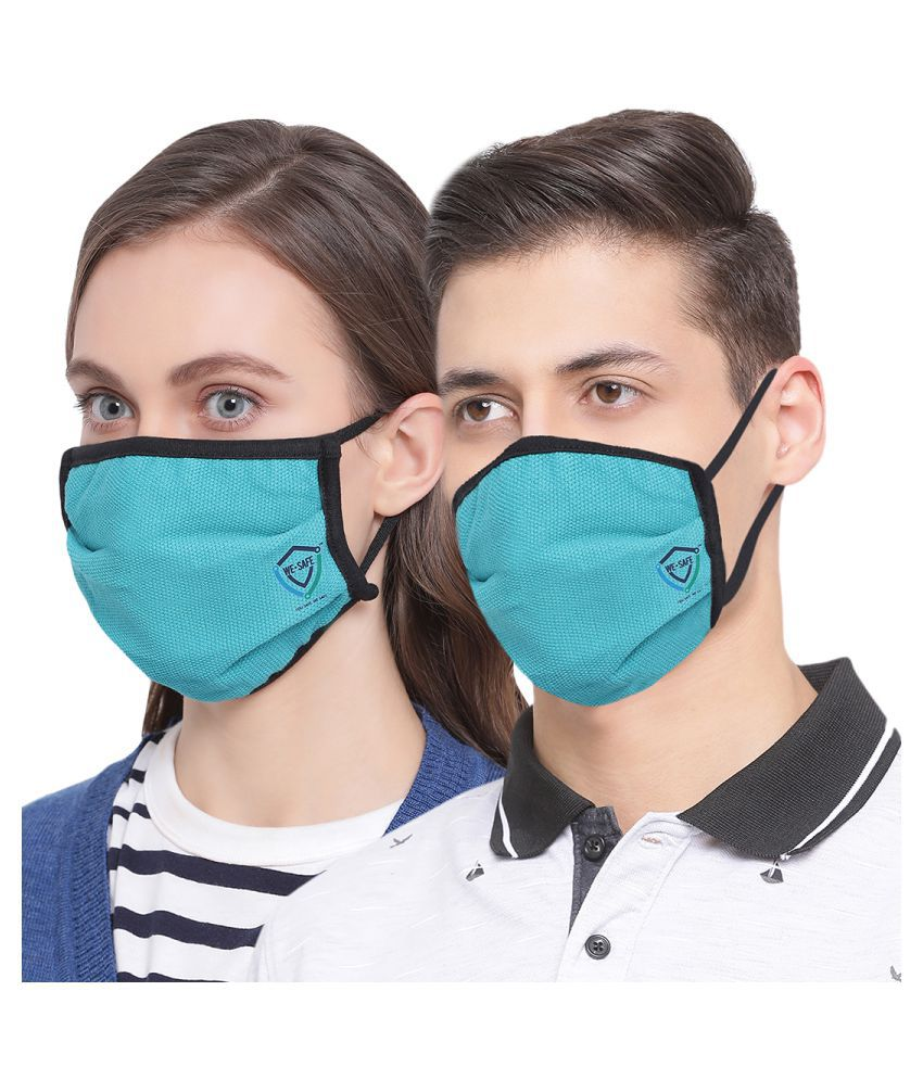 WE-SAFE Anti Bacterial Mask Pck of 2 Respirators