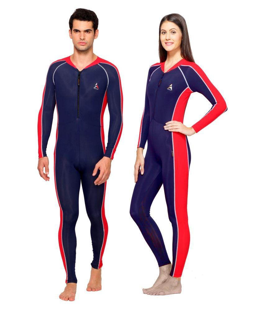 Attiva Navy Nylon Swimsuit Single