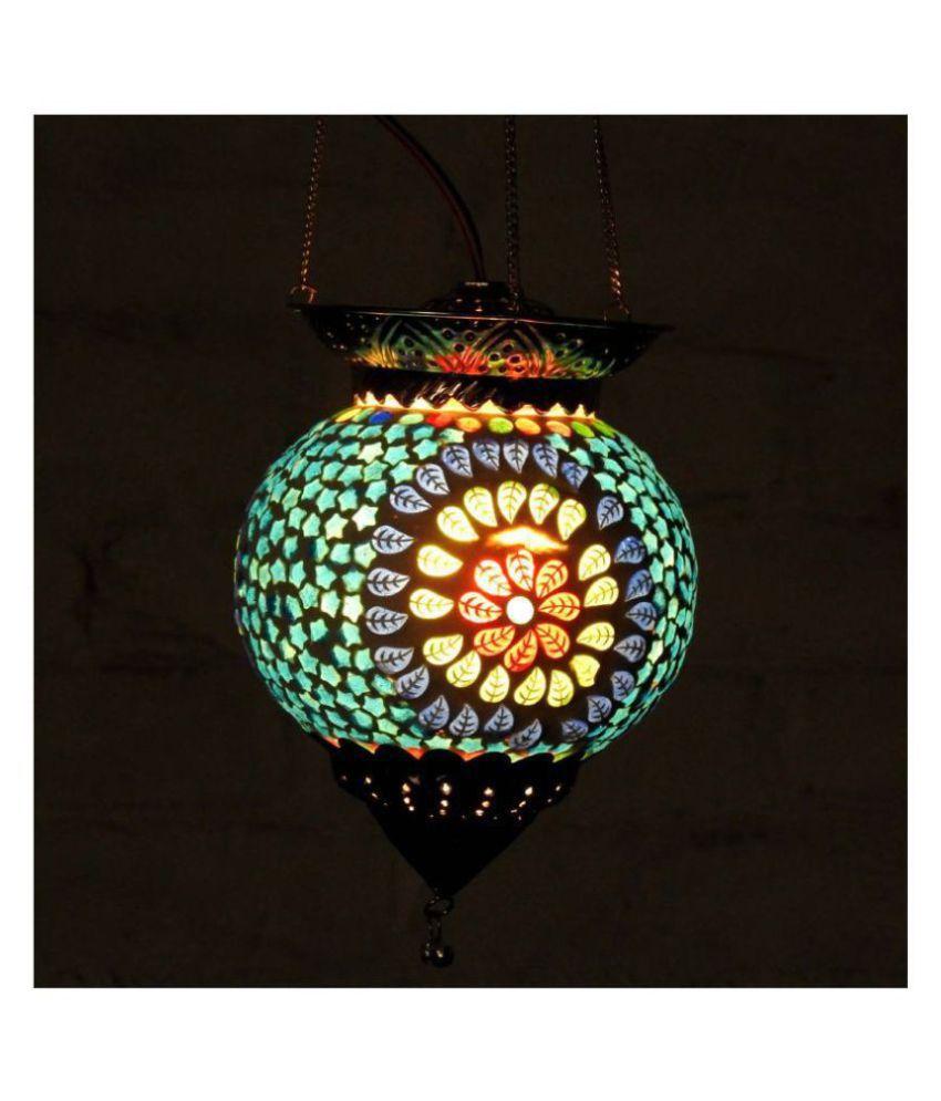 Susajjit Decor Glass Diwali Lamp, Party Lamp, mosaic lamp Pendant Multi - Pack of 1