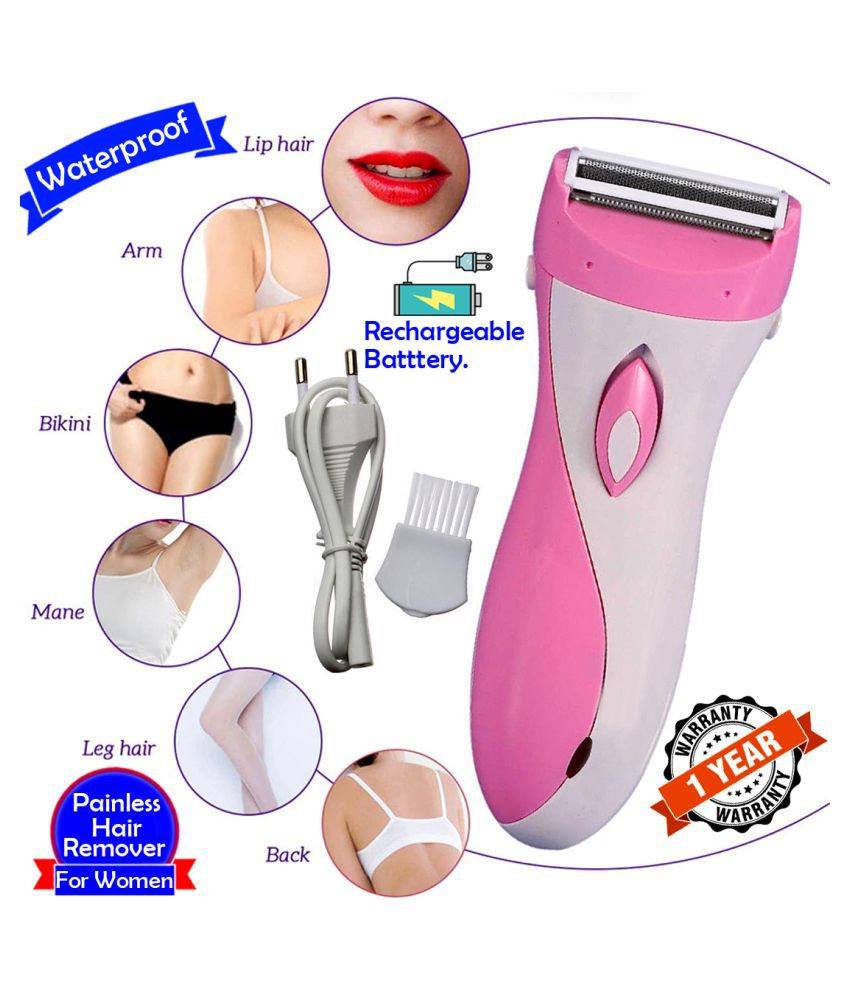 KT Kemei 2in1 Women Rechargeable Shaver Trimmer Painless Epilators Hair Remover Multi Casual Combo