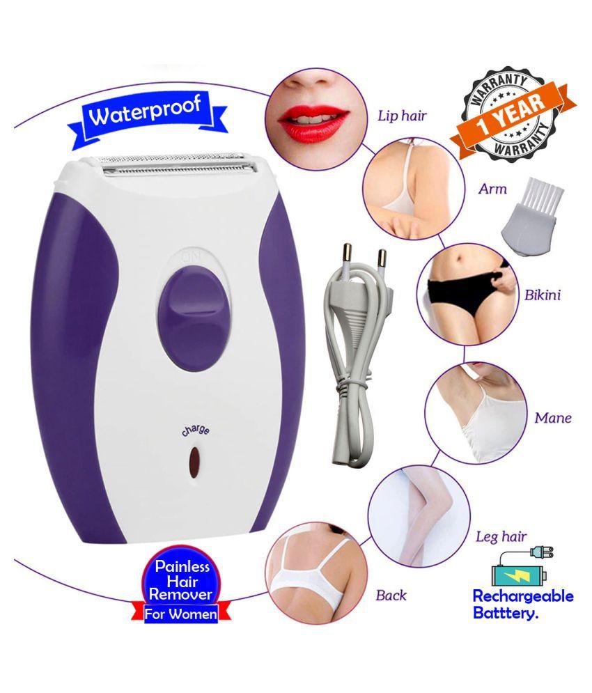 Women 2in1 Kemei Rechargable Waterproof Trimmer Shaver Painless Epilator 3 Blade Multi Casual Combo