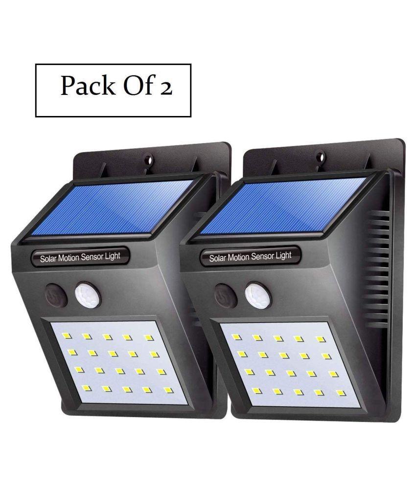 Shreenathji 4W Solar Outdoor Wall Light - Pack of 2