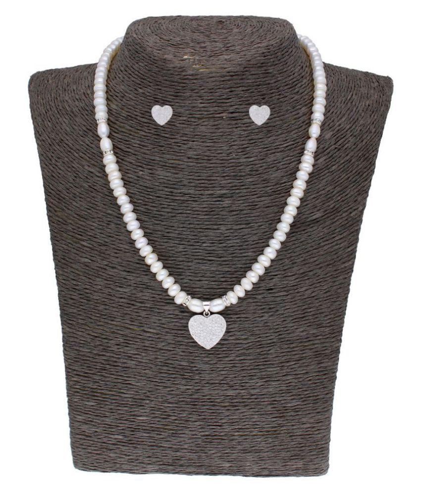 Sri Jagdamba Pearls Pearls Multi Color Princess Traditional None Necklaces Set