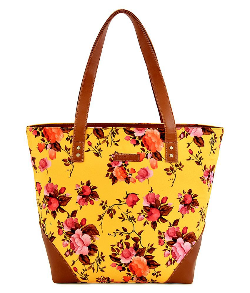 Lychee Bags Yellow Canvas Tote Bag