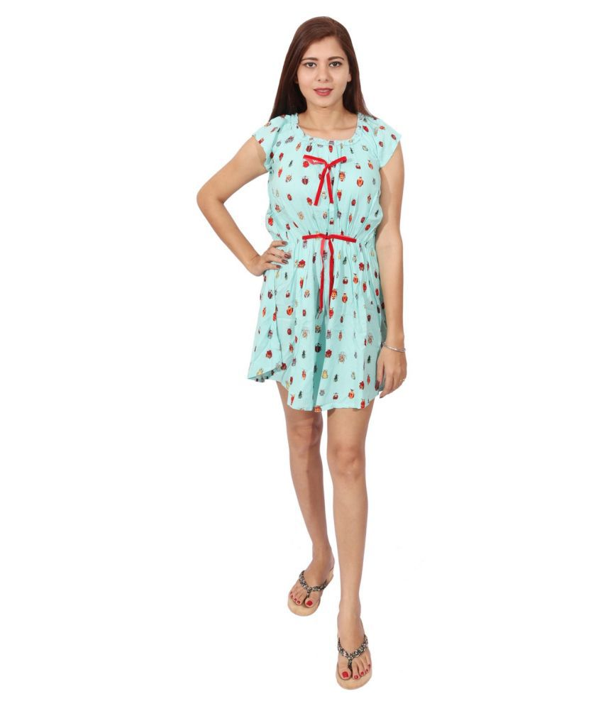 RIVI Rayon Blue Bodycon Dress