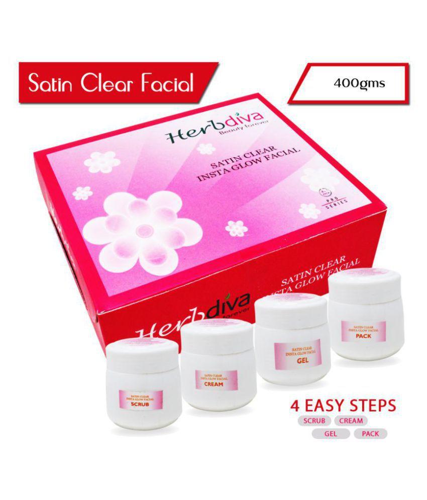 Herbdiva Satin Clear Insta Glow Facial Kit 400 g