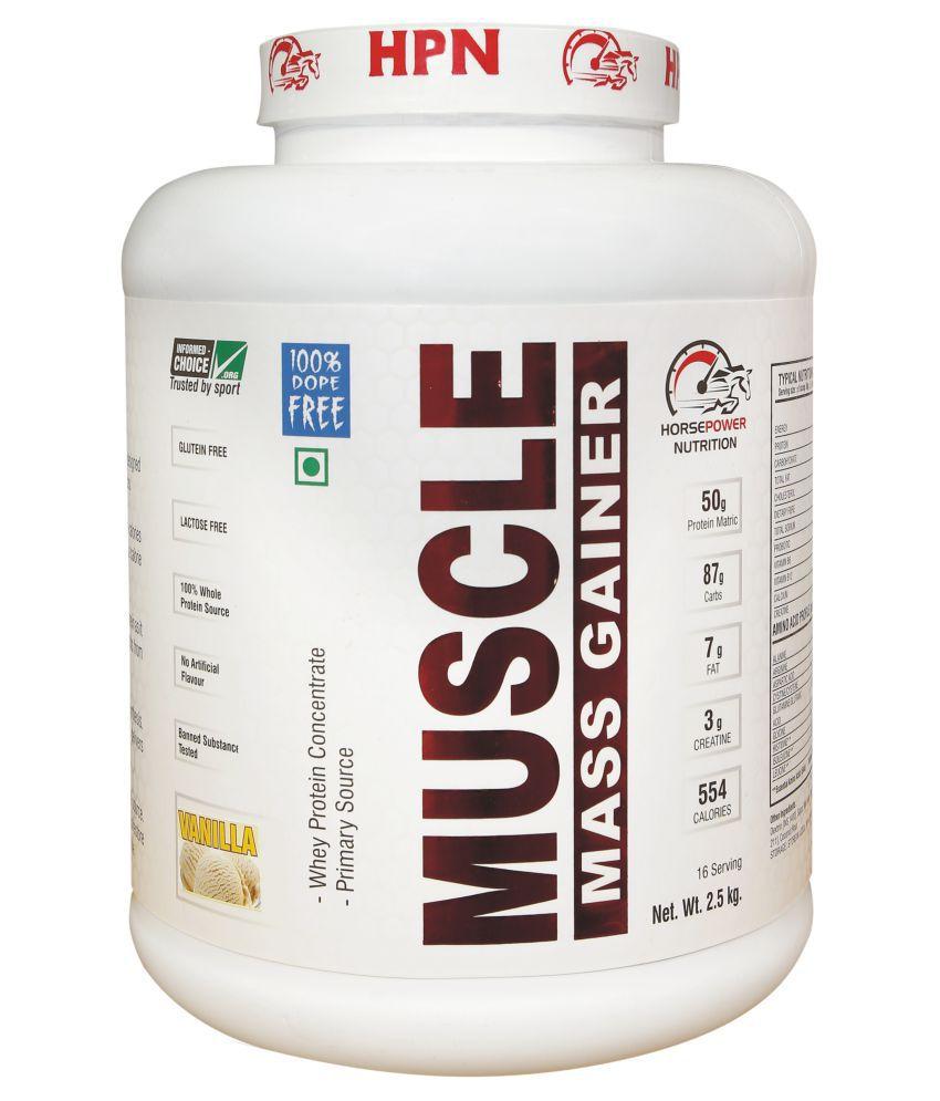 Horse Power Nutrition HPN MUSCLE MASS GAINER 2.5 kg Mass Gainer Powder